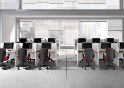 ufficio_operativo_call center_divisione_in linea_postazione_moderno_design_bianco_legno
