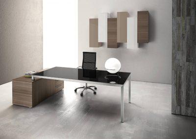 ufficio_scivania_design_vetro_metallo_legno_nero